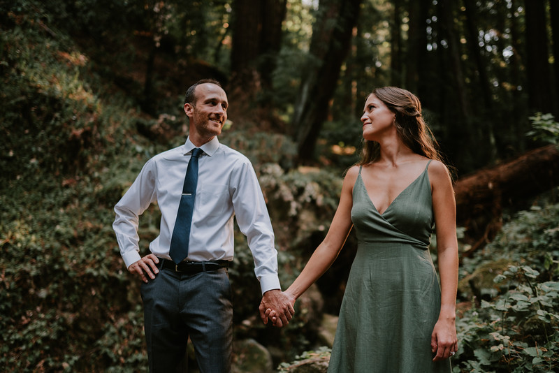 Classy Engagement Session in the California Redwoods.