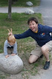 Posera med pappa