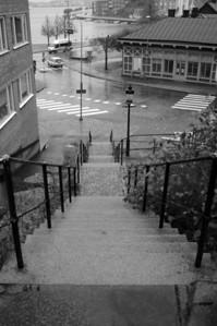Trappa ned mot Skeppsgossegatan