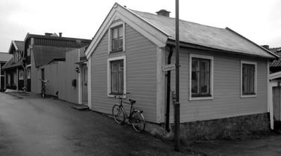 Björkholmen. Korsningen Korvettgatan/Krister Hornsgatan