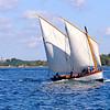 En av  Marinmuseums Barkar/Skeppsbåtar