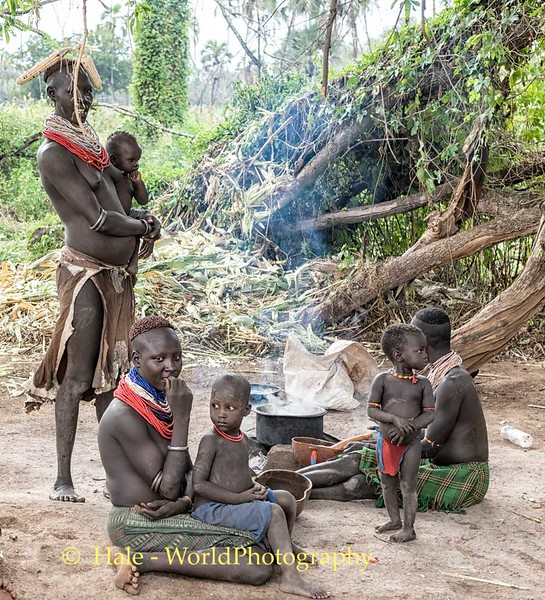 Karo Mothers and Their Young Children