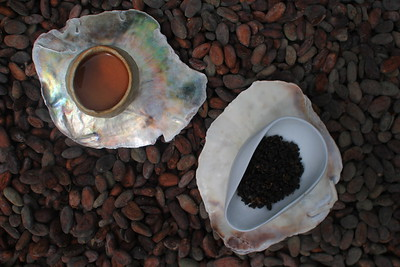 oolong on cocoa beans