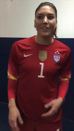 Hope Solo Congratulations Video