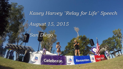 """Relay for Life"" Speech - San Diego, August 15, 2015"