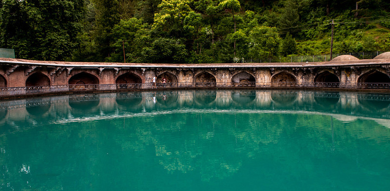 Mughal garden at Verinag, Kashmir, India