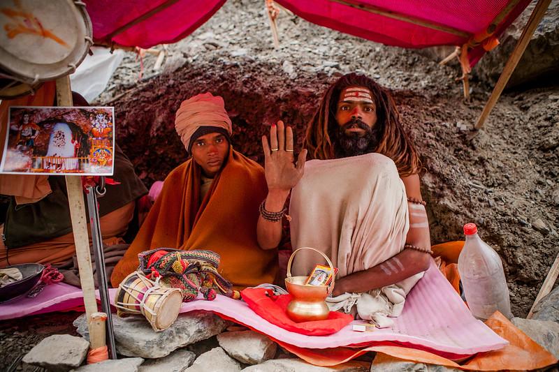 Market outside the Amarnath cave, Kashmir, India