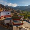 Aerial view of Leh from Shanti Stupa in Ladakh, India
