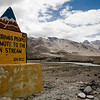A signboard in Zanskar put up by BRO, Border Roads Organisation