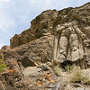 Tallest rock cut statue of the Maitreya Buddha in Karste Khar near Kargil in Suru valley, India