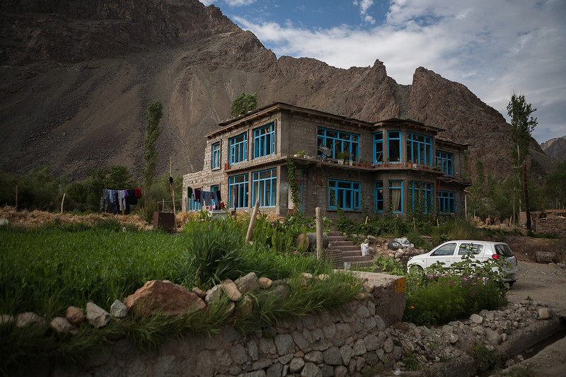House in Sankoo near Kargil in the Suru valley, India