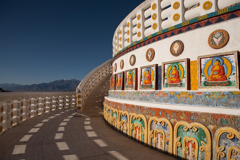 Shanti Stupa at Leh in Ladakh, India