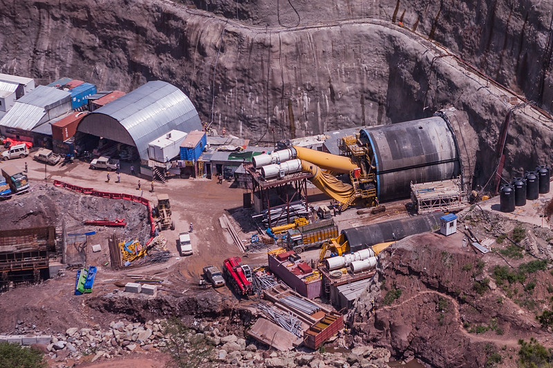 Chenani Nashri tunnel work in progress, Jammu and Kashmir, India