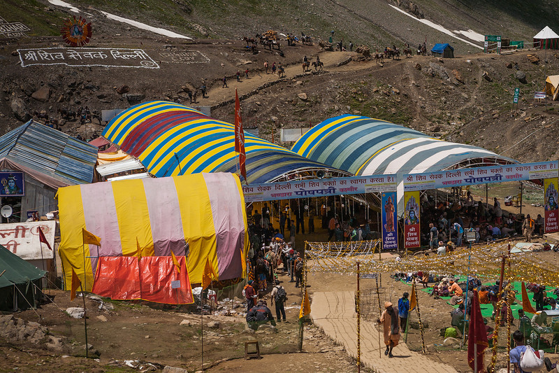 Food stalls at Poshpathri en route Amarnath, Kashmir, India