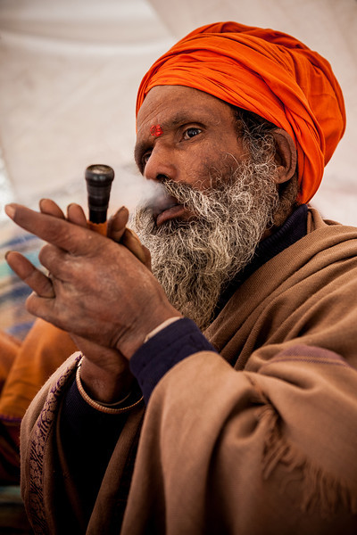 Sadhu at Amarnath, Kashmir, India