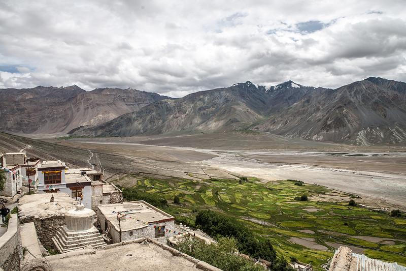 View from Karsha monastery in Zanskar, India