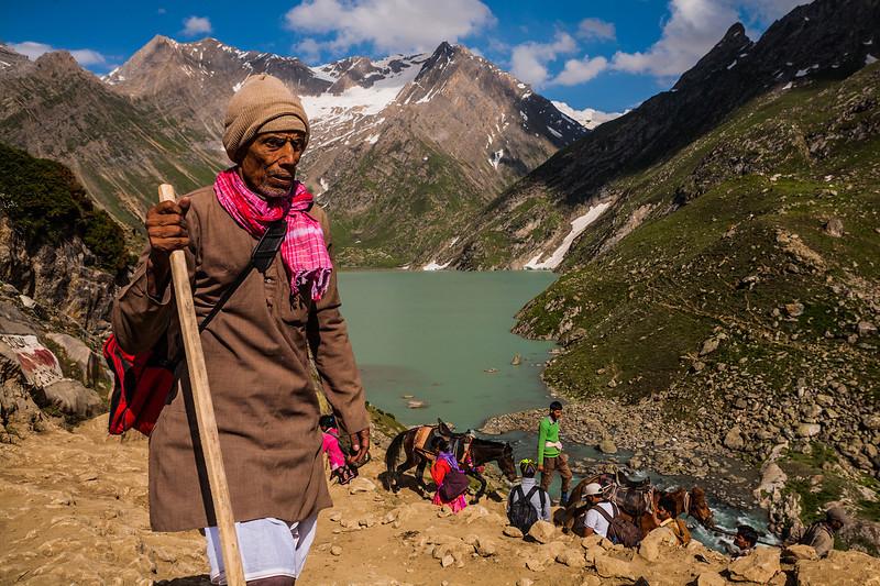 Pilgrims on Amarnath yatra, Kashmir, India