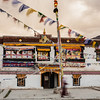 Sani Monastery decorated for Festival, Zanskar valley, India