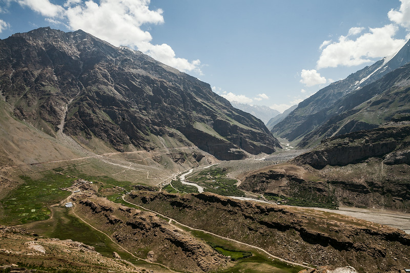 View of Suru valley from a vantage point in Parkachik