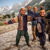 Gujjar kids from Rajouri district, Sonamarg, Kashmir, India