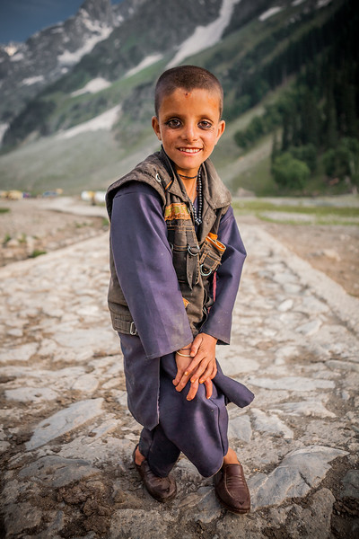 Gujjar kid from Rajouri district, Sonamarg, Kashmir, India