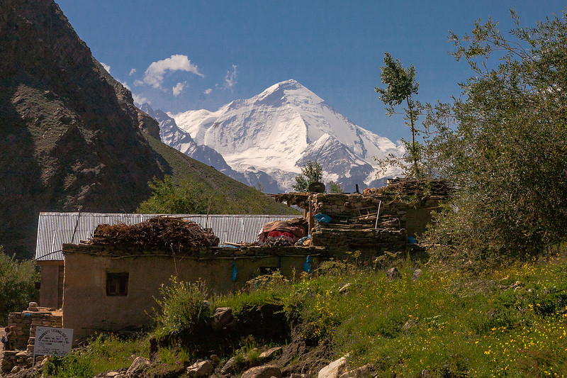 View of Nun peak from Panikhar in Suru valley near Kargil, India