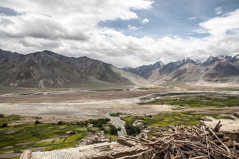 View from the Karsha monastery in Zanskar, India