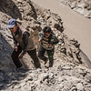 End of the trek to Phuktal monastery, Zanskar, India