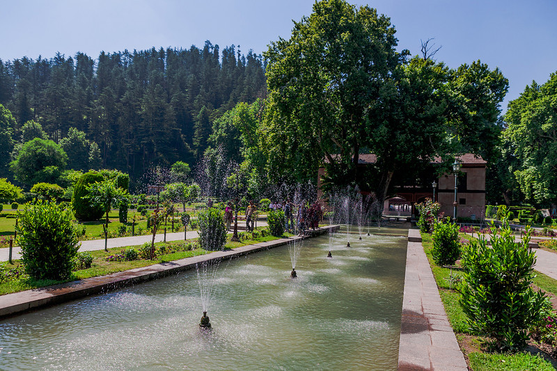 Mughal garden at Achabal, Kashmir, India