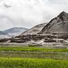 Typical high altitude village en route Tso Moriri, Ladakh, India