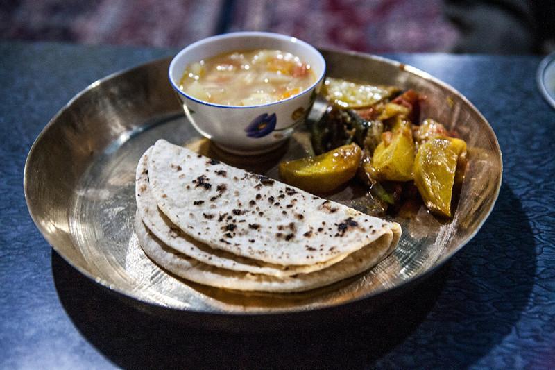 Dinner at Padum, Zanskar, India