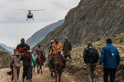 Helicopter, horse, a palkhi or your own two feet are all the options now available for reaching the holy Amaranth cave at a height of almost 4000 meters.