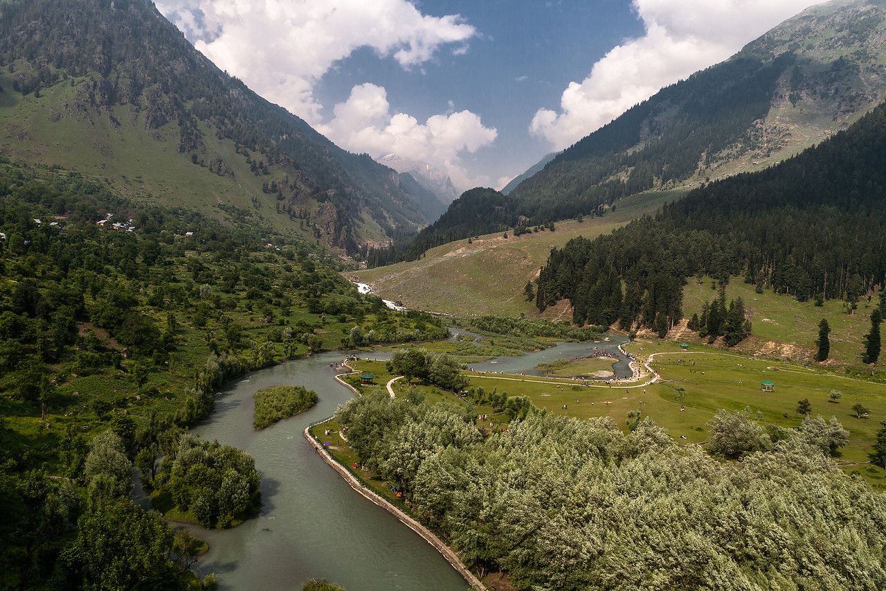 Lidder river at Betab valley, Kashmir, India