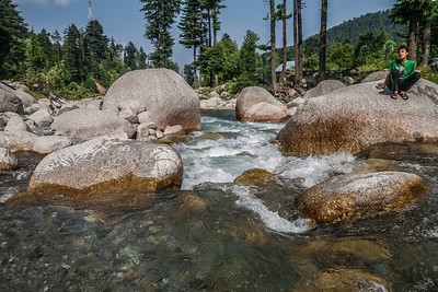 Reshwari is a border village in the Kupwara district of northern Kashmir.This is the stream that flows by the tourist bungalow in Reshwari. Local kids come here everyday in the summer for their after school swim.
