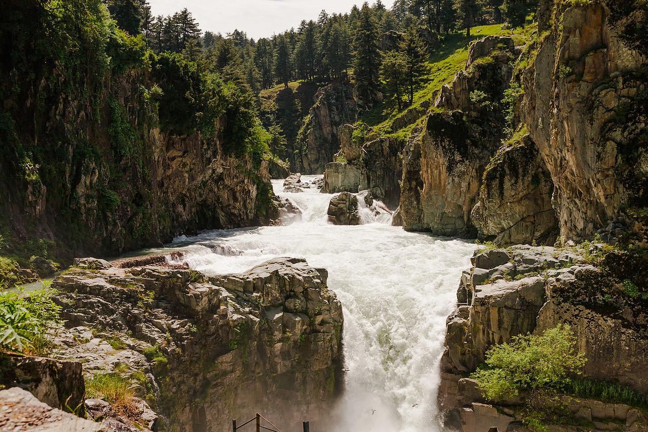 Aharbal waterfall, Kashmir, India