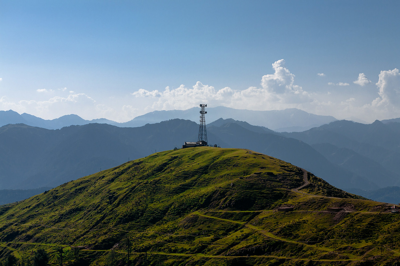 Mountain Landscape - Tower hill, Kashmir, India