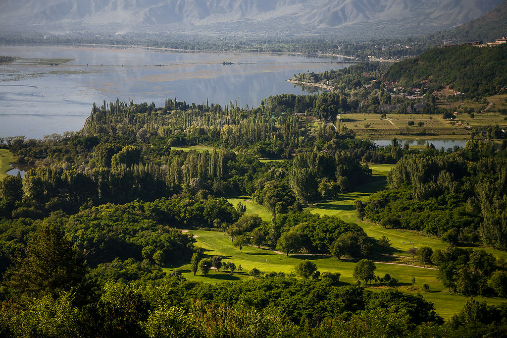 Ariel view from Pari Mahal, Srinagar, Kashmir, India
