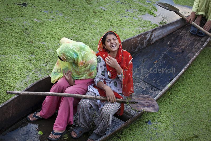 On a Kashmir Canal - Kashmir, India
