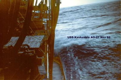 USS Kaskaskia AO-27 Nov. 1962