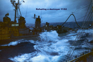 Refueling a destroyer 11/62