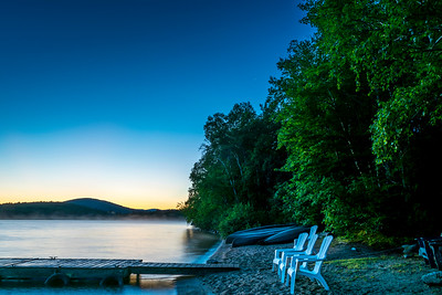 Katahdin Lake misty morning