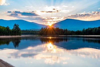 Katahdin Lake sunset
