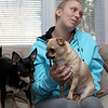 Kate LaBelle of Leominster has been looking for the unknown woman who saved her life on Route 2 last year. Without her she would have died. She told the story of what happened surround by her two dogs Reese, the black one, a rat terrier and Nuggit a Chihuahua. She said they are her best friends and are so therapeutic for her. SENTINEL & ENTERPRISE/JOHN LOVE