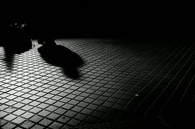 Shadows on tiles