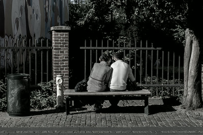 Lovers on a bench