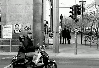 Moped rider