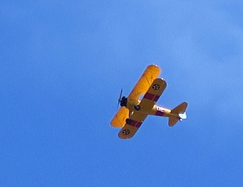 A joyride flight passes overhead as we reach Milton Abbas.