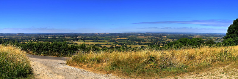 The view from our lunch spot on the Wessex Ridgeway.