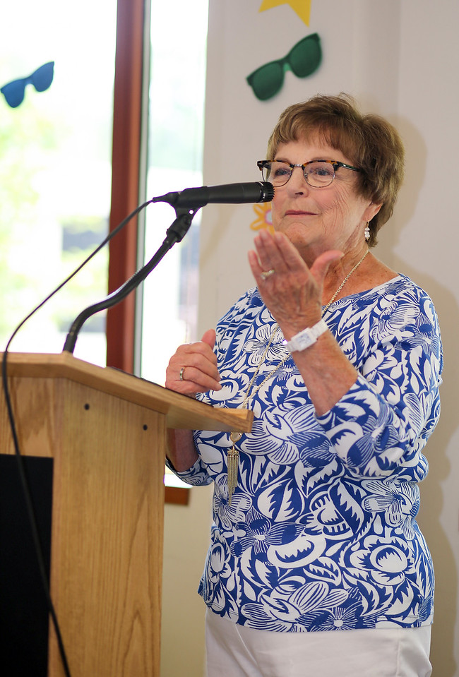 Kathy Corkum was honored with an  Older Americans Act 2016 'blaze a trail' award on Friday. <br /> Photo by John Fitts