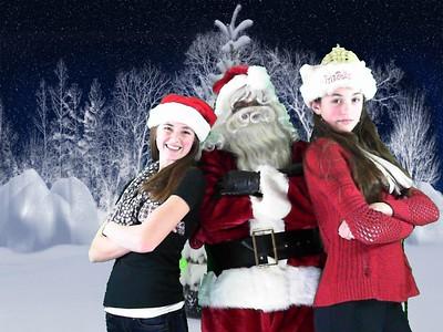 Kathy & Stacey Santa Party 2014